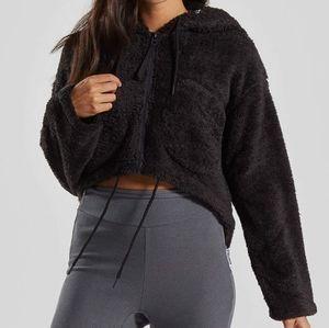 Gymshark cropped sherpa jacket